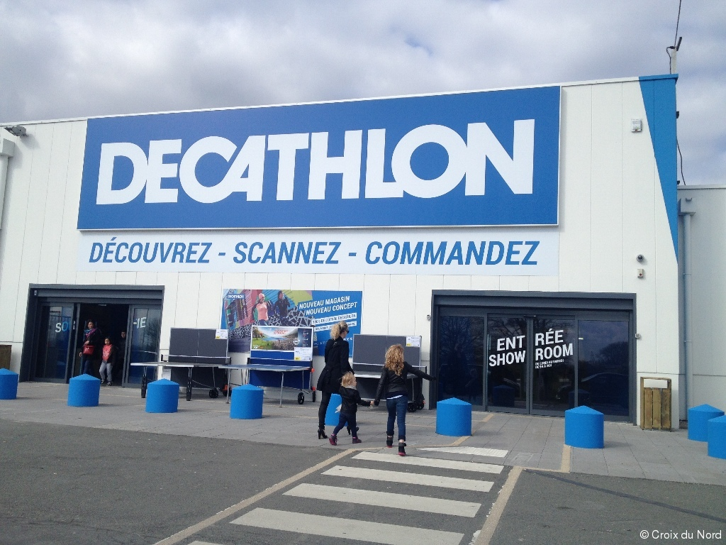 englos un nouveau concept de magasin decathlon en test article croix du nord. Black Bedroom Furniture Sets. Home Design Ideas